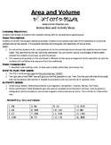 Area and Volume Game Puzzle with Worksheet