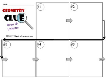 Area and Volume - Geometry Clue - Review Game