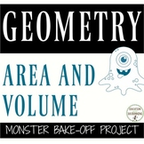 Area and Volume Monster Bake Off Project UPDATED