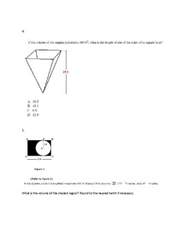Area and Volume Practice