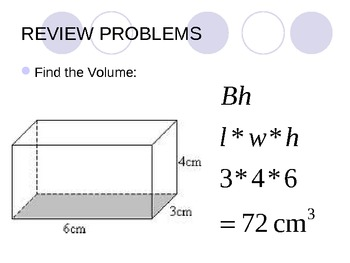 Area and Volume Review