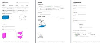 Surface Area & Volumes of Solids - PPT, Notes, Formulas, and Practice BUNDLE