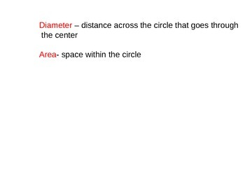 Area and circumference of a circle