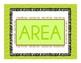 Area and perimeter classroom math poster in chevron