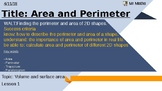 Area and perimeter - including parallelograms and trapeziums