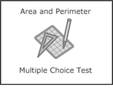 Area and perimeter math test (metric)