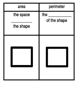 Area and perimeter note packet