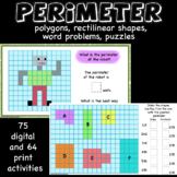 Area and perimeter, rectangles, polygons, rectilinears, wo
