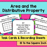 Area and the Distributive Property Task Cards