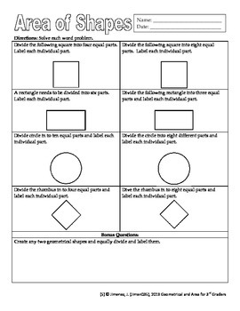 Area in Geometry for 3rd Graders