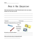 Area in the Classroom Worksheet