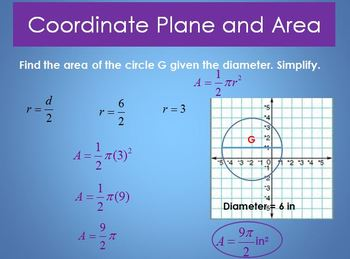 Area in the Coordinate Plane (PP)