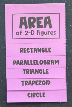 Area of 2-D Figures (Foldable)