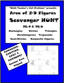 Area of 2-D Figures Scavenger Hunt 7G.4 & 7G.6