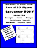 Area of 2-D Figures Scavenger Hunt 7G.4 & 7G.6