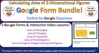 Area of 2-Dimensional Figures Google Form Bundle – Perfect for Google Classroom!