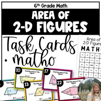 Area of 2-Dimensional Figures (TASK CARDS)
