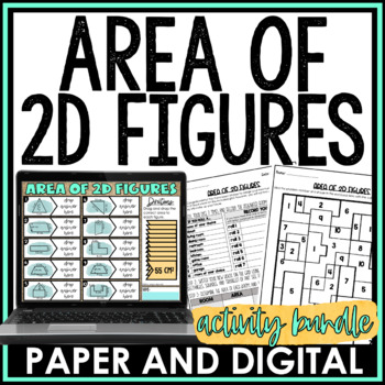 Area of 2D Figures Activity Pack