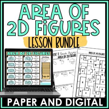 Area of 2D Figures Lesson Bundle