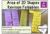 Area of 2D Shapes Revision Foldables