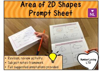 Area of 2D Shapes (Prompt Sheet)