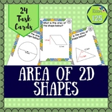 Area of 2D Shapes Task Cards