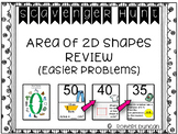 Area of 2D Shapes Review-Easier Problems