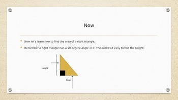 Area of A right Triangle PPT