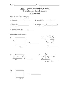 Area of Basic Geometric Figures