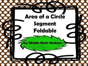 Area of Circle Segments Foldable