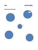 Area of Circle Test/Quiz