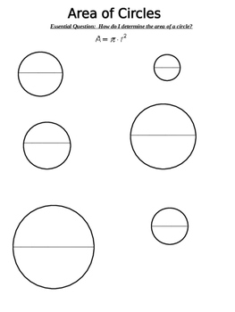Area of Circles