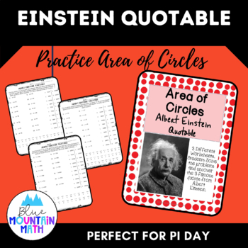 Area of Circles Albert Einstein Quotable