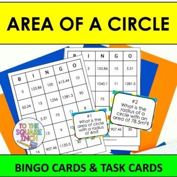 Area of Circles Bingo
