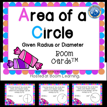 Area of Circles Boom Cards--Digital Task Cards
