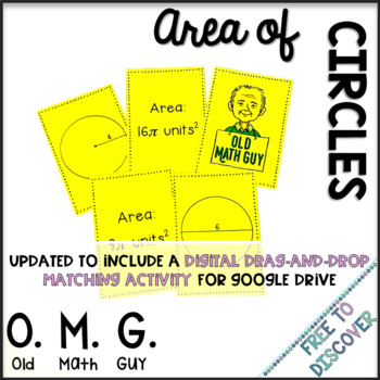Area of Circles Card Game