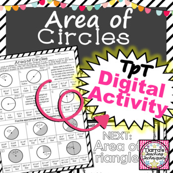 Area of Circles: Color by Solution