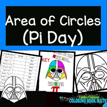 Area of Circles Coloring Book Math
