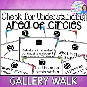 Area of Circles Gallery Walk