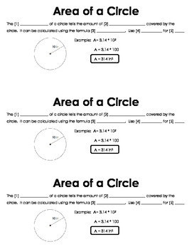 Area of Circles Guided Notes