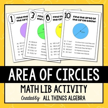 Area of Circles Math Lib