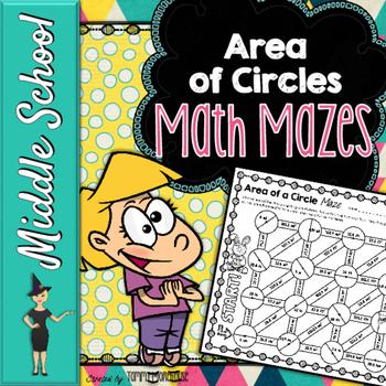 Area of Circles Math Mazes