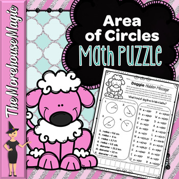 Area of Circles Math Puzzle