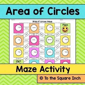 Area of Circles Maze