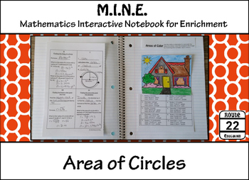 Area of Circles Notes and Activity