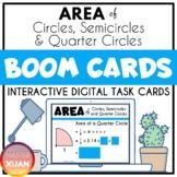 Area of Circles, Semicircles & Quarter Circles Boom Cards