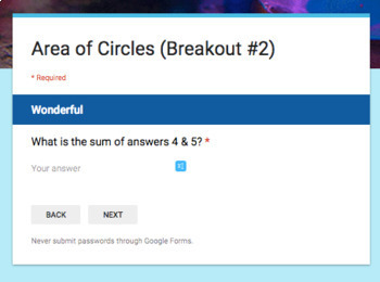 Area of Circles – Two Breakout Activities!