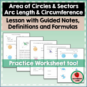 Area of Circles and Sectors - Circumference of Circles and
