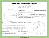 Area of Circles and Sectors Notes