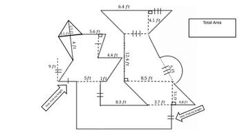 Area of Complex Figure
